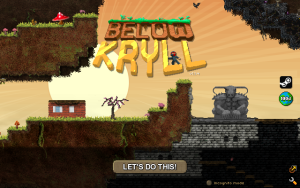Below Kryll Title Screen