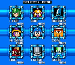 Mega Man SFR Stage Select