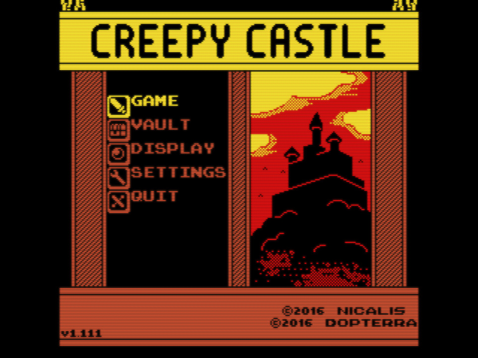 Creepy Castle Title Screen