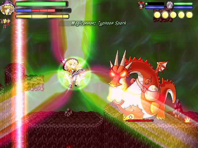 Touhou Wandering Souls Marisa Lasers