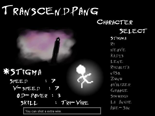 TranscendPang Character Select