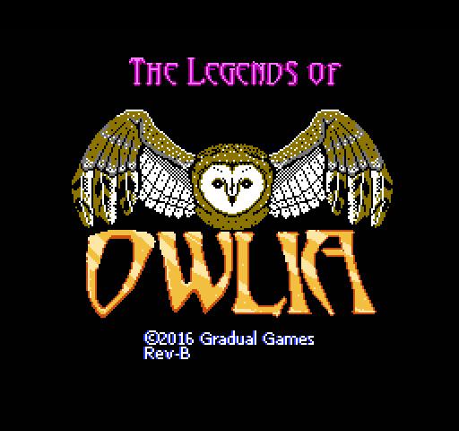 Owlia Title Screen